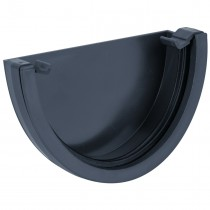 Brett Martin 115mm Deep Flow Anthracite Gutter External Stop End - Anthracite Grey