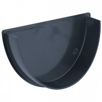 Brett Martin 115mm Deep Flow Anthracite Gutter Internal Stop End - Anthracite Grey