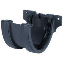 Brett Martin 115mm Deep Flow Anthracite Gutter Union Bracket - Anthracite Grey
