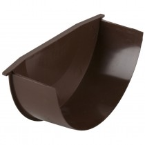 Brett Martin 160mm High Capacity Half Round Gutter Internal Stop End - Brown