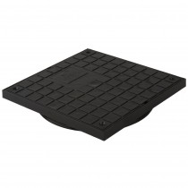Brett Martin 305mm x 305mm Square PVC Chamber Cover and Frame - Black, 280mm
