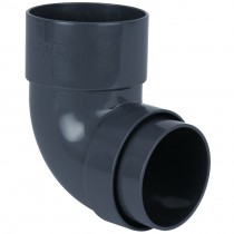 Brett Martin 68mm Round Anthracite Down Pipe 92.5 Degree Bend - Anthracite Grey