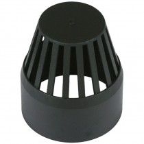 Cascade 110mm Cast Iron Style Soil Vent Cowl - Black