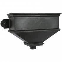 Cascade Cast Iron Style Hopper Head (Long) - Black