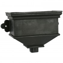 Cascade Cast Iron Style Hopper Head (Small) - Black