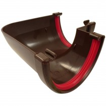 Freeflow 116mm Deep Gutter 90 Degree Angle - Brown