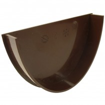 Freeflow 116mm Deep Gutter Internal Stop End - Brown