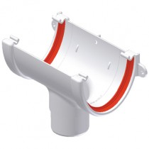 Freeflow 116mm Deep Gutter Running Outlet - White