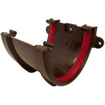 Freeflow 116mm Deep Gutter Union Bracket - Brown