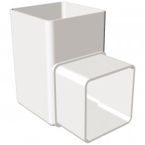 Freeflow 65mm Square Down Pipe 90 Degree Offset Bend - White