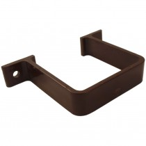 Freeflow 65mm Square Down Pipe Clip (Flush) - Brown