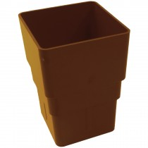 Freeflow 65mm Square Down Pipe Connector - Caramel