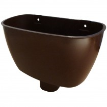 Freeflow 65mm Square Down Pipe Hopper Head - Brown
