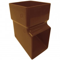 Freeflow 65mm Square Down Pipe Shoe - Caramel