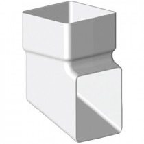 Freeflow 65mm Square Down Pipe Shoe - White