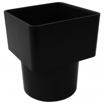Freeflow 65mm Square to 68mm Round Down Pipe Adaptor - Black