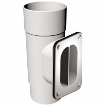 Freeflow 68mm Round Access Pipe - White