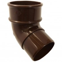 Freeflow 68mm Round Down Pipe 112 Degree Offset Bend - Brown