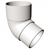 Freeflow 68mm Round Down Pipe 112 Degree Offset Bend - White