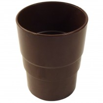 Freeflow 68mm Round Down Pipe Connector - Brown