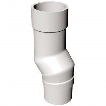 Freeflow 68mm Round Down Pipe Mini Offset - White