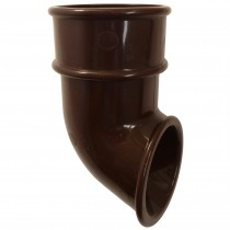 Freeflow 68mm Round Down Pipe Shoe - Brown