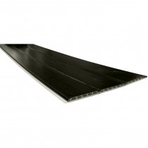 Freefoam 10mm Hollow Soffit Board - Woodgrain Black Ash, 300mm, 5 metre