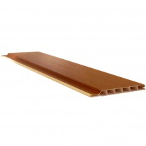 Freefoam 10mm Hollow Soffit Board - Woodgrain Light Oak, 100mm, 5 metre