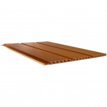 Freefoam 10mm Hollow Soffit Board - Woodgrain Light Oak, 300mm, 5 metre