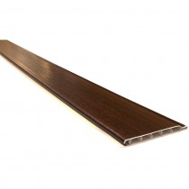 Freefoam 10mm Hollow Soffit Board - Woodgrain Mahogany, 100mm, 5 metre