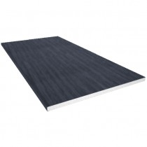 Freefoam 10mm Solid Soffit Board - Woodgrain Anthracite Grey, 225mm, 5 metre