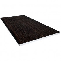 Freefoam 10mm Solid Soffit Board - Woodgrain Black Ash, 100mm, 5 metre