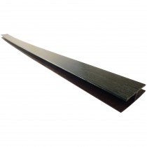Freefoam Hollow Soffit H Joining Trim - Woodgrain Black Ash, 5 metre