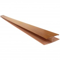 Freefoam Hollow Soffit H Joining Trim - Woodgrain Light Oak, 5 metre