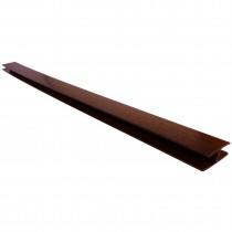 Freefoam Hollow Soffit H Joining Trim - Woodgrain Mahogany, 5 metre