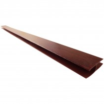 Freefoam Hollow Soffit H Joining Trim - Woodgrain Rosewood, 5 metre