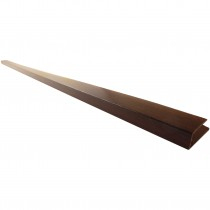 Freefoam Hollow Soffit J Starter Trim - Woodgrain Mahogany, 5 metre