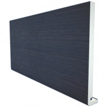 Freefoam Magnum Square Leg 18mm Fascia Board - Woodgrain Anthracite Grey, 200mm, 5 metre