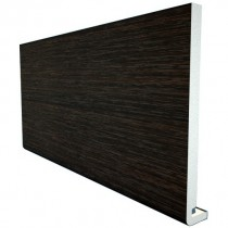 Freefoam Magnum Square Leg 18mm Fascia Board - Woodgrain Black Ash, 200mm, 5 metre