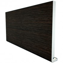 Freefoam Magnum Square Leg 18mm Fascia Board - Woodgrain Black Ash, 250mm, 5 metre