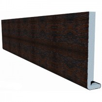 Freefoam Magnum Square Leg 18mm Fascia Board - Woodgrain Mahogany, 250mm, 5 metre