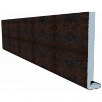 Freefoam Magnum Square Leg 18mm Fascia Board - Woodgrain Mahogany, 400mm, 5 metre