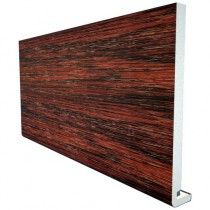 Freefoam Magnum Square Leg 18mm Fascia Board - Woodgrain Rosewood, 200mm, 5 metre