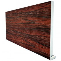 Freefoam Magnum Square Leg 18mm Fascia Board - Woodgrain Rosewood, 225mm, 5 metre