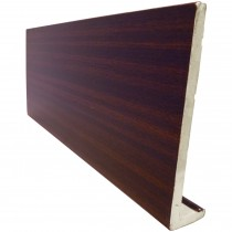 Freefoam Plain 10mm Fascia Board - Woodgrain Mahogany, 300mm, 5 metre