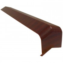 Freefoam Plain Fascia Board 135 Degree External Corner - Woodgrain Mahogany