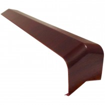 Freefoam Plain Fascia Board 135 Degree External Corner - Woodgrain Rosewood