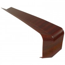 Freefoam Plain Fascia Board 135 Degree Internal Corner - Woodgrain Mahogany