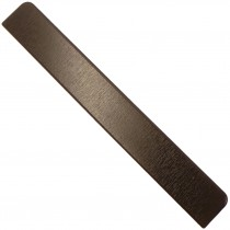 Freefoam Plain Fascia Board End Cap - Woodgrain Black Ash