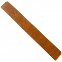 Freefoam Plain Fascia Board End Cap - Woodgrain Light Oak